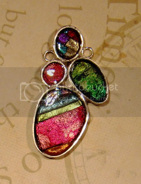 Art clay silver bezel with friendly plastic