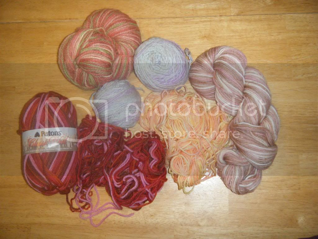 Bundle of Girly Wool Yarn
