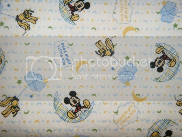 Flannel Crib/Toddler Bed Sheet - Mickey Mouse (Made to Order)