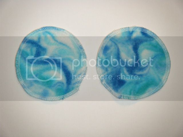 20% OFF - Nursing Pads - Swirl Dyed Bamboo Velour - Blueberry Swirl