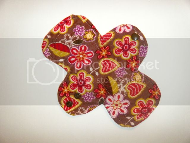 8&quot; Cloth Pantyliner Pad - Stitched Floral Flannel