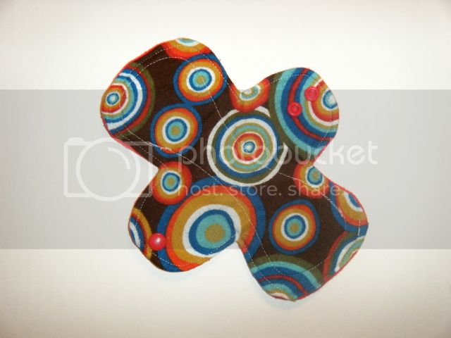 8&quot; Cloth Pantyliner Pad - Bullseye Ripple Flannel