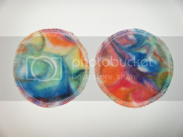 20% OFF - Nursing Pads - Swirl Dyed Bamboo Velour - Rainbow