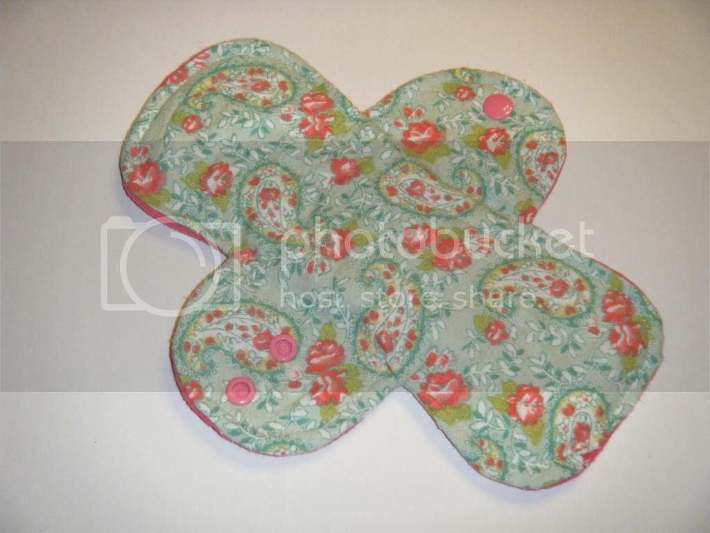 9.5&quot; Regular Cloth Pads - Paisley Floral Flannel