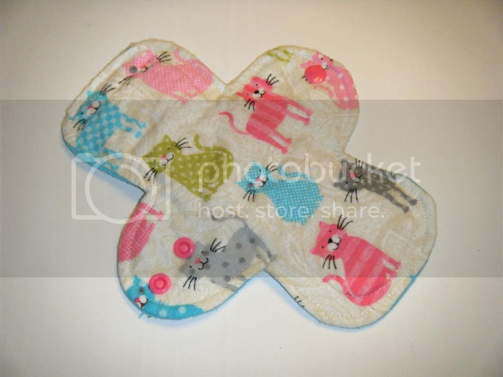 8&quot; Cloth Pantyliner Pad - Cats Flannel