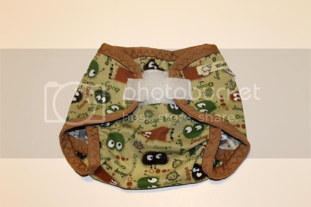 Instock PUL Cloth Diaper Cover - Camo Ooga Booga - Size XS / Newborn