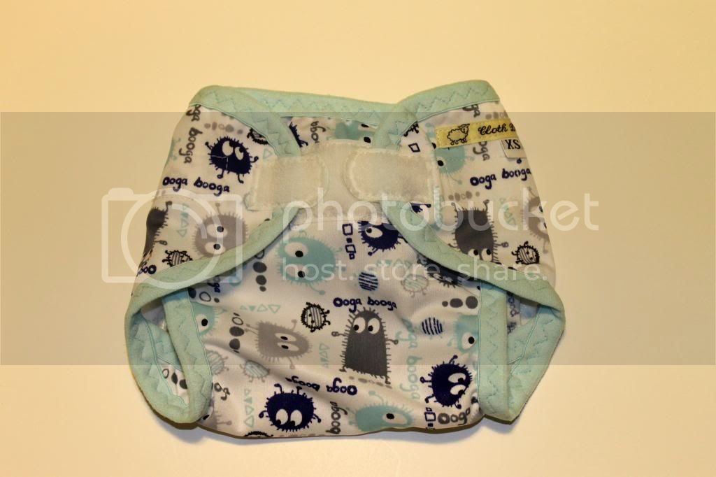 Instock PUL Cloth Diaper Cover - Winter Ooga Booga - Size XS/Newborn