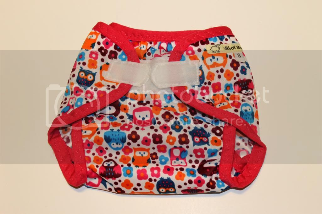 Instock PUL Cloth Diaper Cover - Owl Garden - Size Small