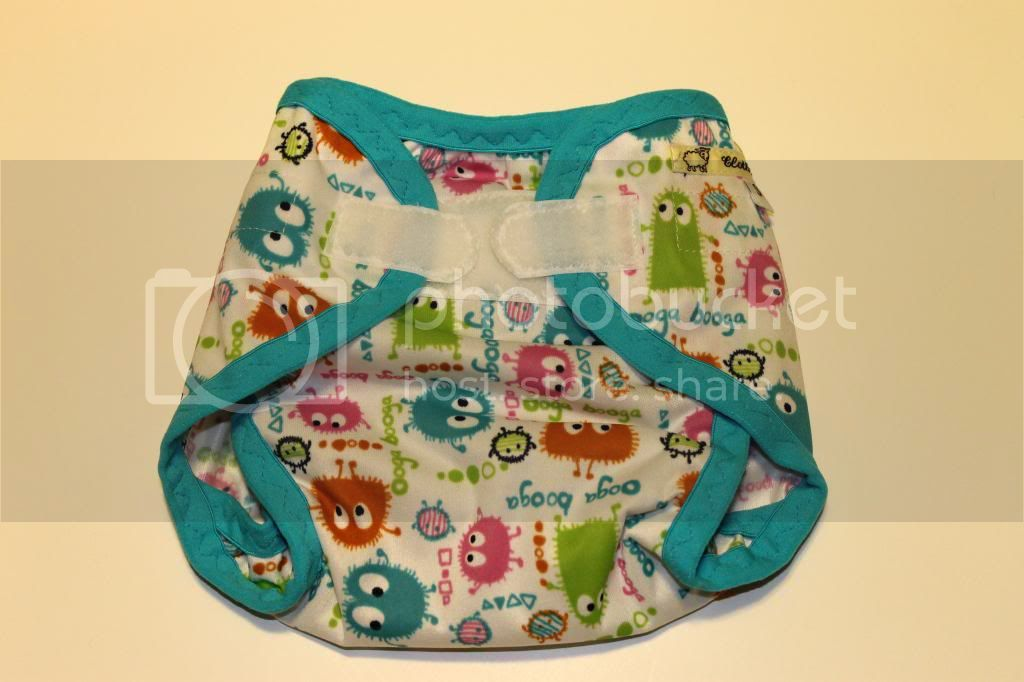 Instock PUL Cloth Diaper Cover - Spring Ooga Booga - Size Small