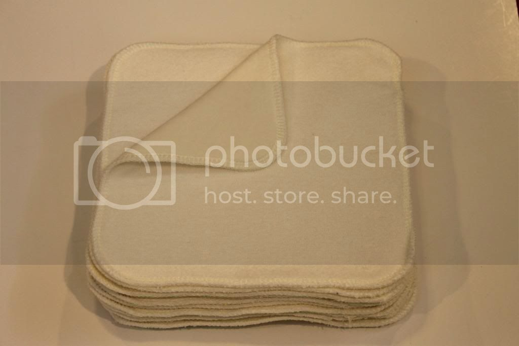2-ply Natural Bamboo Wipes - 8&quot;x8&quot; - Set of 6