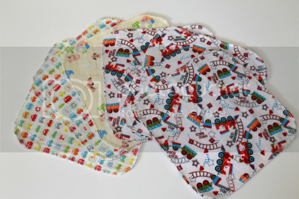 30% OFF 2-ply Flannel Wipes - 8&quot;x8&quot; - Assorted Boys Prints - Set of 6