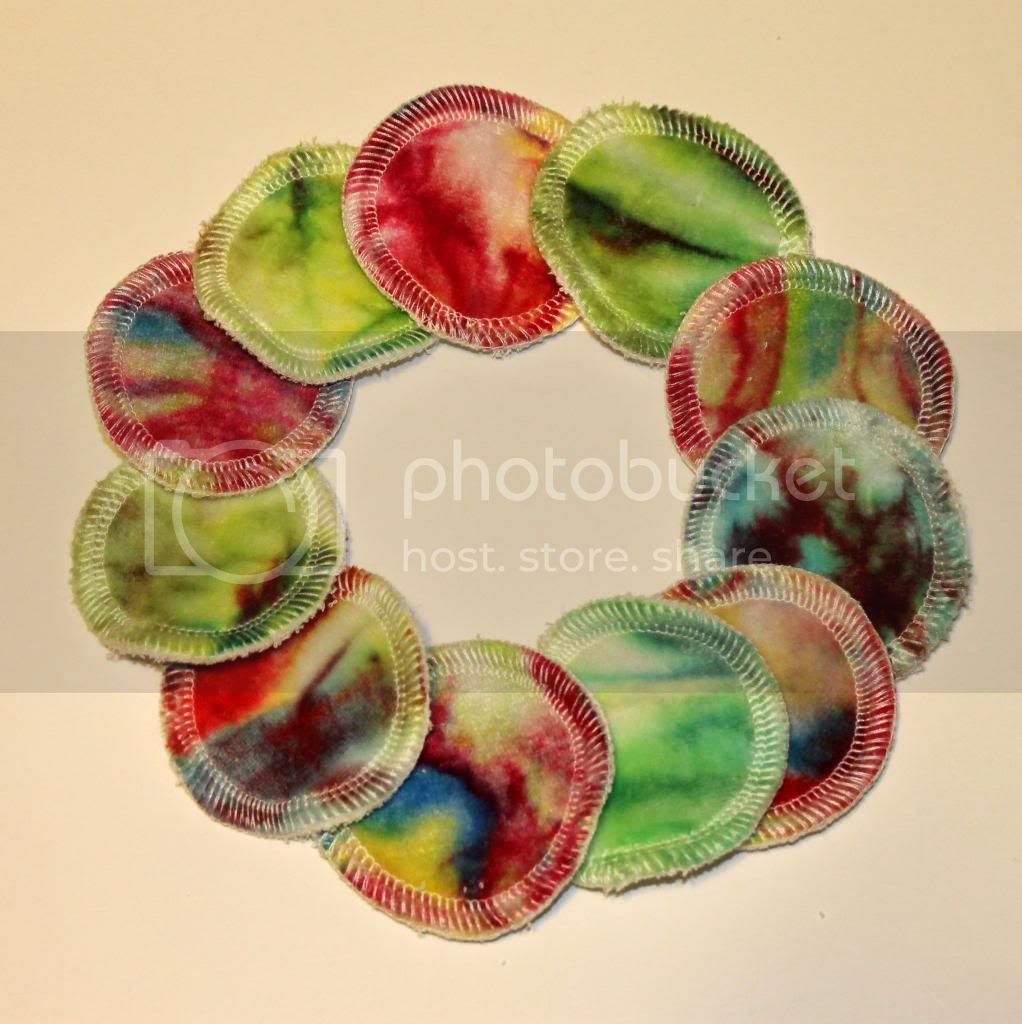Reusable Bamboo Cotton Balls -  Rainbow Swirl - Pkg of 11
