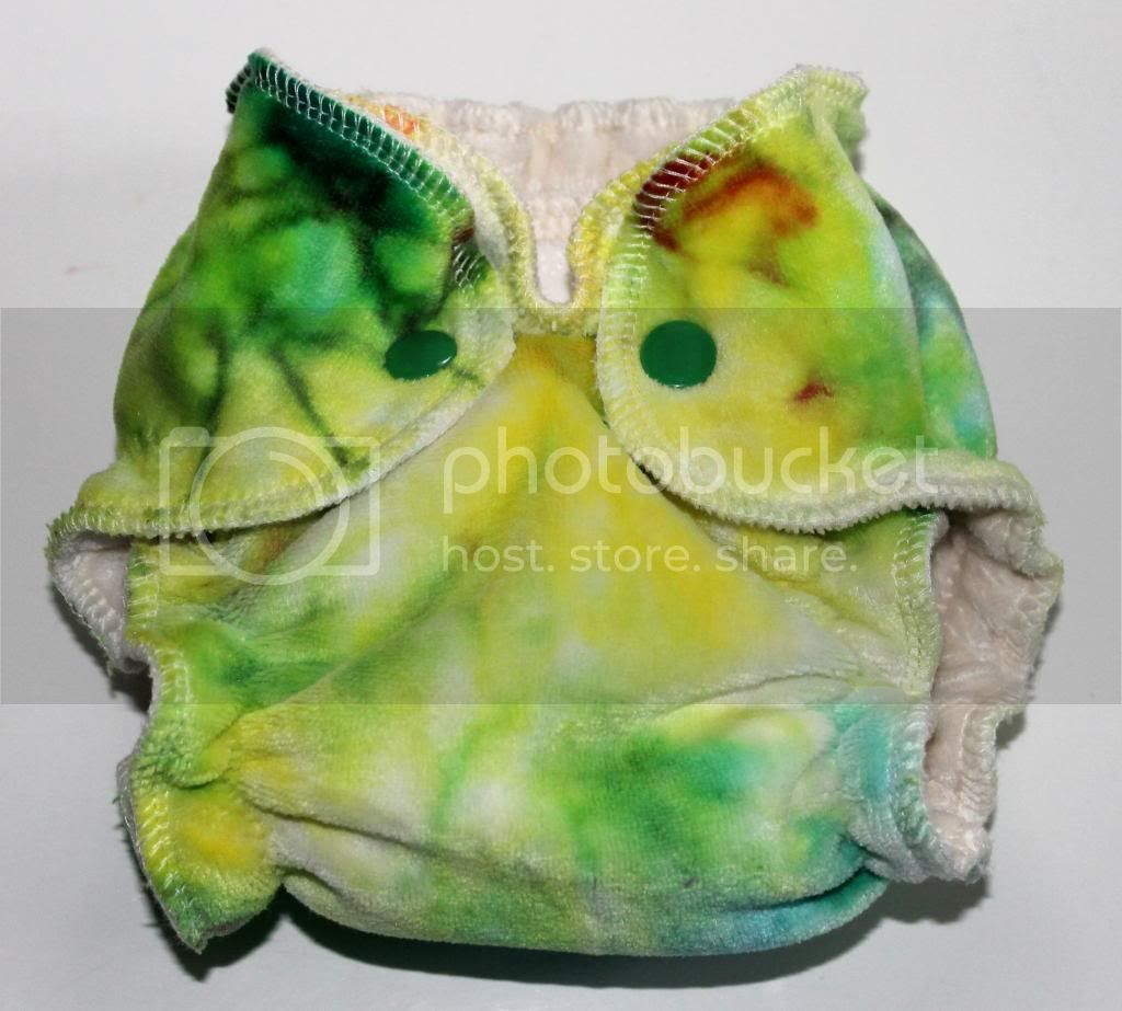 Newborn Fitted Cloth Diaper - Hand Dyed OBV