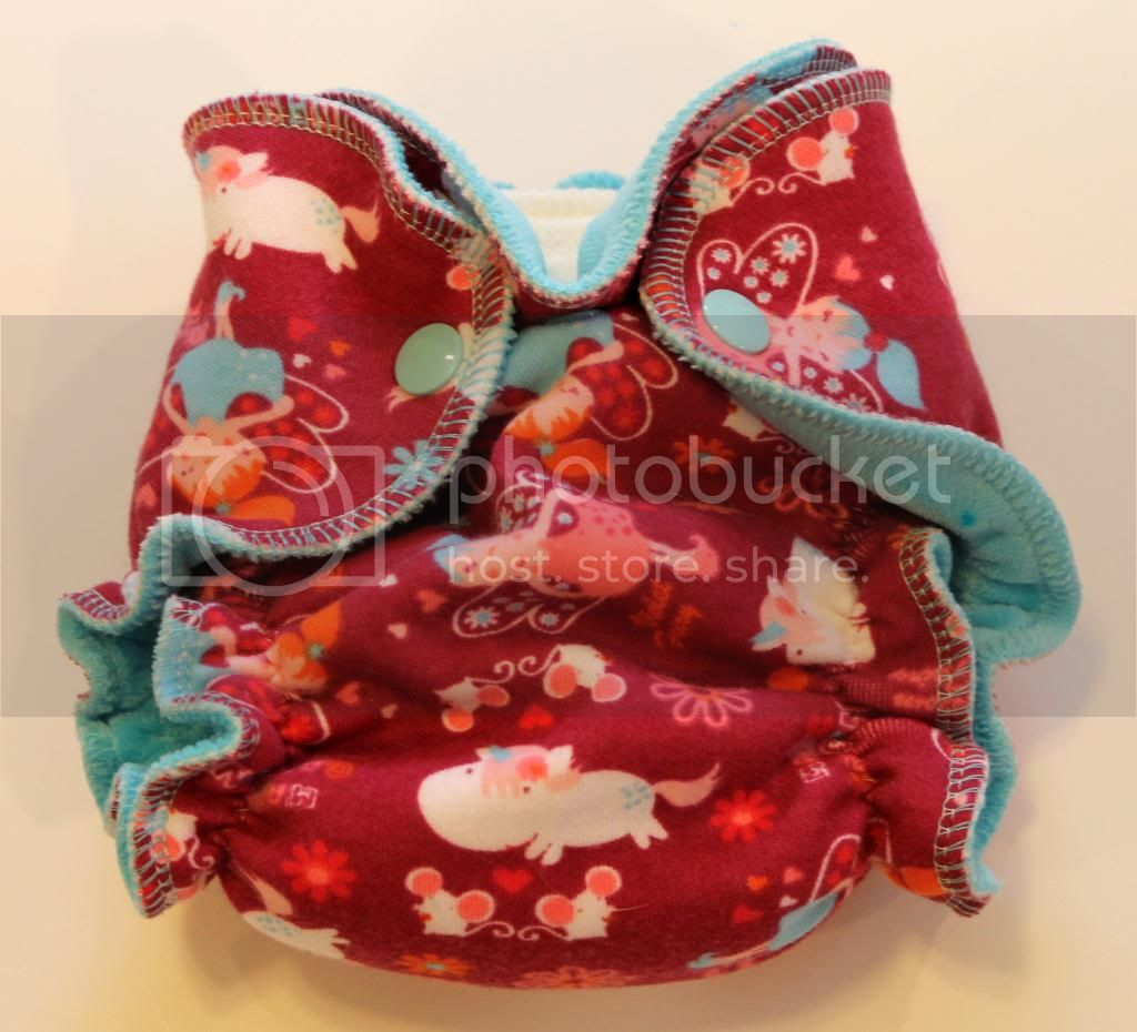 Newborn Fitted Diaper - Magic Garden