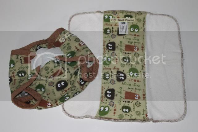  Bamboo Prefold and PUL Cover Bundle - Camo Ooga Booga - Size XS