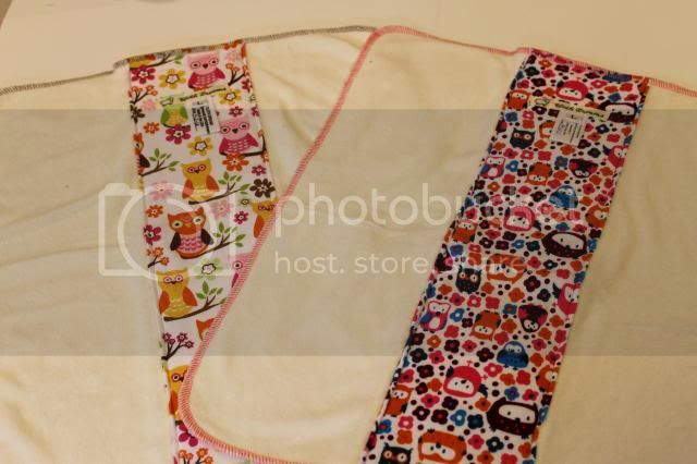 2 Pack of Cloth Diaper Bamboo Prefold - Pretty Owls &amp; Owl Garden - Size L