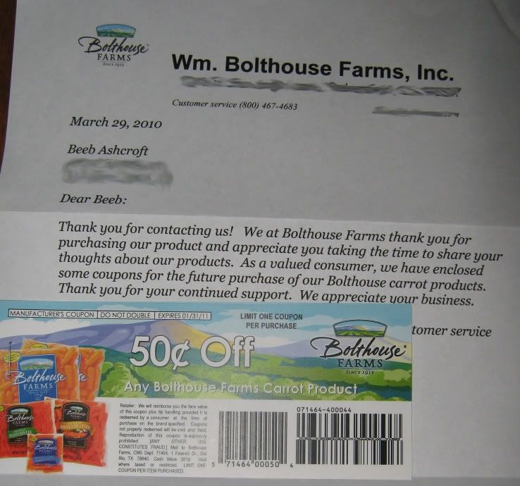 .50 cents off Bolthouse carrots