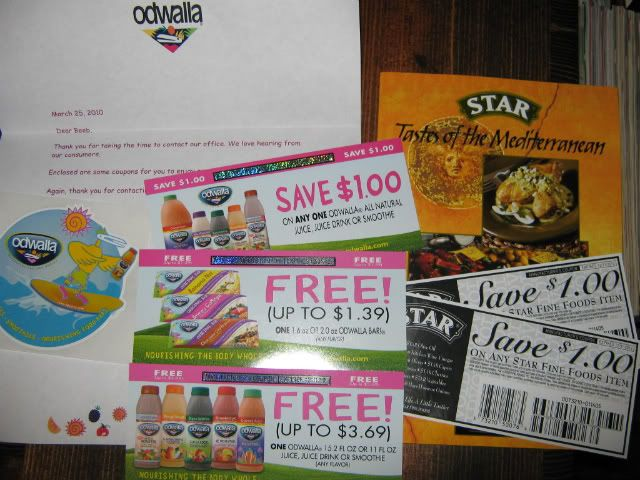 Free Odwalla &amp; $1.00 off Star